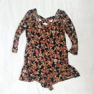 Forever21 Plus Floral Long-Sleeve Romper